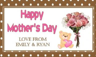 Mother's Day Chocolate Bar Wrapper Design 5